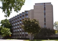 Viterbo University's Bonaventure Hall has been converted from a student residence hall and opened up to local hospital and emergency workers. Viterbo University's Bonaventure Hall has been converted from a student residence hall and opened up to local hospital and emergency workers.