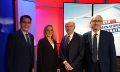 Rolf Wegenke, Rebecca Larson, Governor Scott Walker, Governor-Elect Tony Evers, WAICU sponsors debate Rolf Wegenke, Rebecca Larson, Governor Scott Walker, Governor-Elect Tony Evers, WAICU sponsors debate