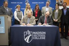 Edgewood College, Madison College partnership, Jack E. Daniels, Scott Flanagan Edgewood College, Madison College partnership, Jack E. Daniels, Scott Flanagan