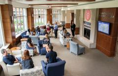 The Skogen Family Welcome Center is designed to provide a positive atmosphere for visitors who are new to campus.  The Skogen Family Welcome Center is designed to provide a positive atmosphere for visitors who are new to campus.
