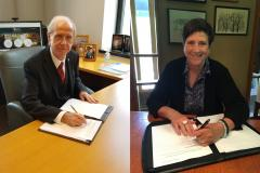 Dr. Rolf Wegenke, WAICU President and Dr. Morna Foy, WTCS President, signed the CCTA in July Dr. Rolf Wegenke, WAICU President and Dr. Morna Foy, WTCS President, signed the CCTA in July